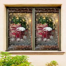 3D Box N605 Christmas Window Film Print Sticker Cling Stained Glass Xmas Fay
