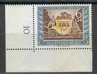 Germany 1943 MNH Mi 828 Sc B215 Mail Coach. Stamp Day ** Corner
