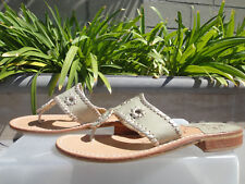 Jack Rogers PALM BEACH Flip Flop, Baby Camel/Gold Leather Thong Slip-on Sz 7.5M