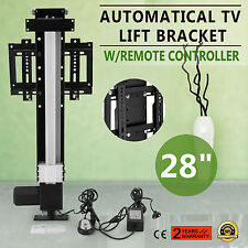 """28"""" AUTOMATICAL TV LIFT BRACKET WALL MOUNTED ADJUSTABLE W/REMOTE CONTROLLER"""