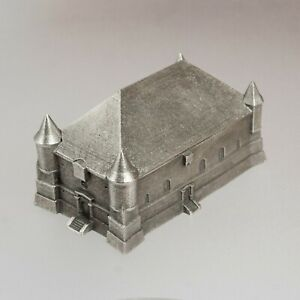 Pewter BOX - Saint-Juvin Fortified Church - Architectural Miniature Model 1:500