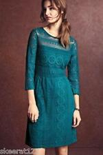 New Next Teal Black Baroque Lace Fit Flare Romantic Dress 8 10 12 14 16 RRP £39