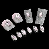 10p/set DIY Nail Art 3D Glitter Rhinestone Rose Bud Manicure Decoration Jewelry
