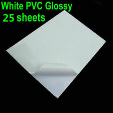 25 Sheets Glossy & White PVC Vinyl A4 Sticker Waterproof Only for Laser Printer