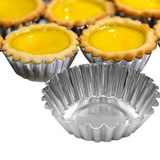 5× Egg Tart Aluminum Cupcake Cake Cookie Mold Tin Bakeware Bake Pan Hot Sell