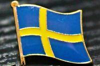 SWEDEN Swedish Metal Flag Lapel Pin Badge *NEW*