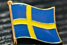 SWEDEN Swedish Metal Flag Lapel Pin Badge *NEW*