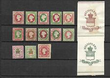 Helgoland - Lot Briefmarken + GA-Ausschnitte