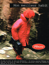 PUBLICITE ADVERTISING 094  1992  FLORIANE  vetements enfants manteaux anorak