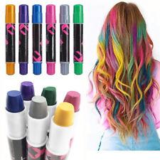 6PCS Temporary Hair Chalk Pen Hair Color Dye Salon Kits Party Fans Cosplay Set