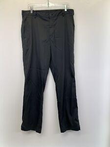 Nike Golf  Performance Dri Fit Mens 34x32 Black Stretch  Golf Pants (N68)