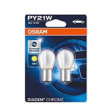 2x Renault Megane MK2 Osram Diadem Chrome Amber Rear Indicator Light Bulbs Pair