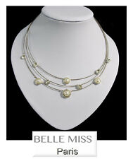 Luxury Pearls Necklace Belle Miss Paris Necklace Silver Plated Crystal