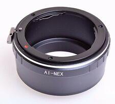 Nikon Nikkor Lens to Sony NEX Alpha E-Mount Adapter Converter ring (UK)