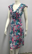"""LILLY PULITZER DRESS NWOT FLOWERS SIGNED """"LILLY"""" IN PRINT RUFFLES SIZE L LARGE"""
