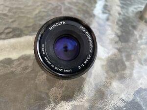 Minolta MD Rokkor 45mm 1:2  Manual Focus Camera Lens Made in Japan