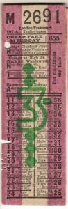 Bus/Tram ticket London Transport Trolleybuses 3d Cheap fare Route 655