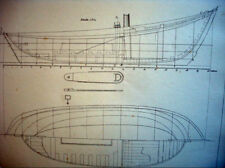 BLUEPRINT NAUTICAL MUSEUM, SHIP PLAN #49 'Souvenir de Marine' Geisendorfer 1890