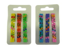 2 packs of pretty coloured hair grips making 12 grips total hair accessory (e)