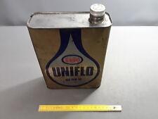 Ancien bidon d'huile moteur 2 litres ESSO déco garage vintage atelier