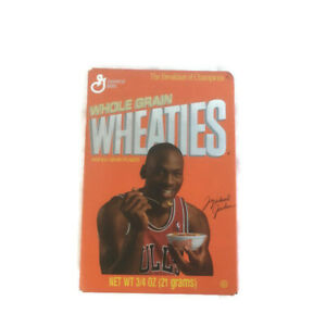 Michael Jordan Wheaties Box 3 4 Oz Mini Full Unopened #27 Hof 1990s GM Ex