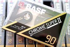 BASF CHROME SUPER II 90 HIGH BIAS TYPE II BLANK AUDIO CASSETE - GERMANY 1991