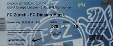 TICKET UEFA EL 2015/16 FC Zürich - Dinamo Minsk