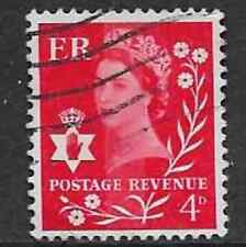 GB REGIONAL ISSUE N. IRELAND USED WILDING STAMP - 4d - RED DEFINITIVE 1958-1972