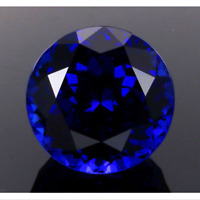 Blue Sapphire 9mm 3.18cts Round Faceted Cut Shape AAAAA VVS Loose Gemstone