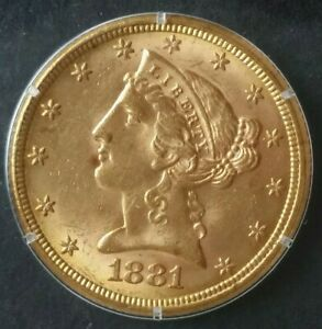 1881 $5 Liberty Head Gold Half Eagle in a Blanchard Slab