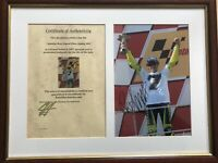 **Valentino Rossi Signed Photo Sepang 2005 c/w Certificate of Authenticity**