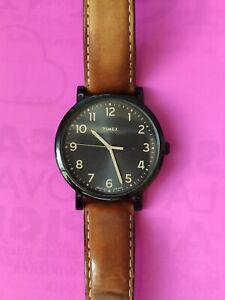 Orologio Uomo Timex Quarzo quadrante 42mm Soleil e Cinturino In Pelle. Perfetto