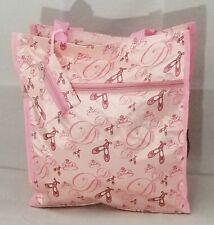 "Ballet Dance Bag Pink Tote Medium Cruise Beach Summer Theme Park Travel 13x12"""