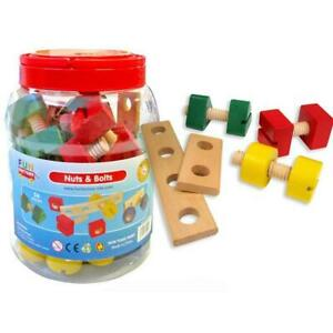 Fun Factory Nuts and Bolts Wooden in Jar 56pc
