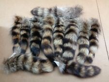 Xl Tanned Raccoon Tail/Crafts/Real Usa Fur Tail/Harley parts/Coon Tails/Cat Toys