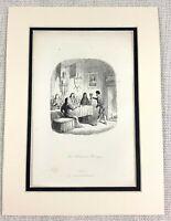 1885 Antico Stampa The Mariti Revenge George Cruikshank Illustrazione Vittoriano