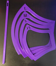 * 4 pack*(Xs-L) reusable mask templates/pattern for Diy masks with elastic tool
