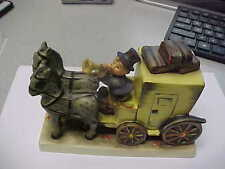 FIGURINE HUMMEL #226~THE MAIL IS HERE~COACH~BV$800~ HORSES~MINT FULL BEE
