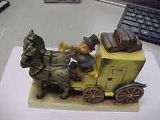FIGURINE HUMMEL #226~THE MAIL IS HERE~COACH~BV$800~ HORSES~MINT FULL BEE