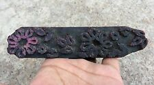 ANTIQUE WOODEN BEAUTIFUL DESIGN HAND CARVED TEXTILE PRINTING BLOCK/STAMP/DYE150