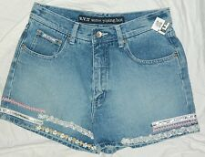 New Juniors R V T Serve Piping Hot Brand Denim Shorts size 9-10 / 28x3