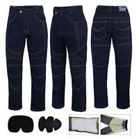 Denim Men's Motorbike Motorcycle jeans Reinforced Protective Lining Trouser