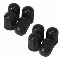 8 x Universal Black Plastic Tyre Wheel DUST VALVE CAPS For Car Bike Cycle Van