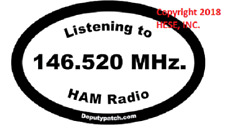 Listening to 146.520 MHz Decal for ham or amatuer radio operators