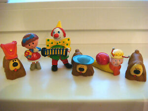 Vintage 6 figurines Kiri clown Papo Manège enchanté Pollux Margot Ambroise SD/AB
