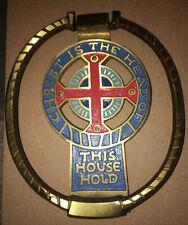 MID CENTURY MODERNIST VINTAGE Religious Cross  Terra Sancta Guild DOOR KNOCKER