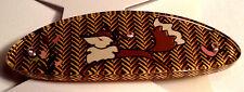 Gymboree Vintage Fox Trot Line Color Brown Fox Hair Snap Clip Barrette NWT LOOK