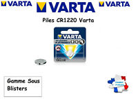 Piles bouton Varta 3V Lithium CR1220 Sous Blister, Qualité Professionnelle