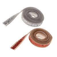 1 Yard Crystal Trim Rhinestone Beaded Applique Chain Sew/Iron On Sash Belt