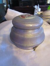 "Vintage Thorens Round Metal 3 women Powder Puff Music Box 4"" all - Deblot"